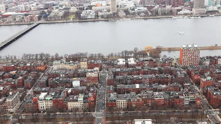 arka görünüm : A view of the city of Boston, Massachusetts along the Charles River