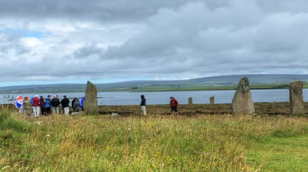 arqueológico : A view of the Ring of Brodgar in Orkney, Scotland