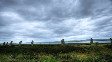 arqueológico : A Timelapse of the Ring of Brodgar, Scotland Stock Footage