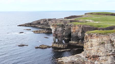 büyük britanya : The Castle of Yesnaby, Orkney, Scotland