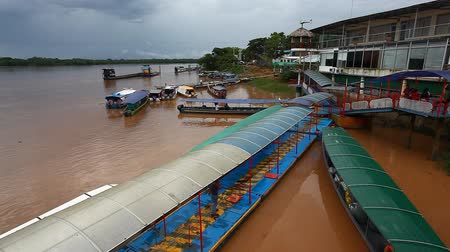 consciousness : Passenger boats docked on the Amazon