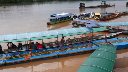 consciousness : Passenger boats docked in the Amazon