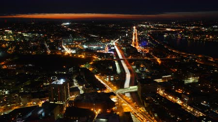 immobilien : 4K UltraHD Een timelapse van de Horizon van Boston in de nacht