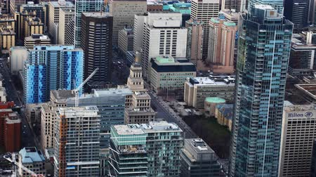 Онтарио : timelapse aerial view of Toronto, Canada buildings