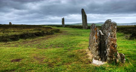 руины : 4K UltraHD The Ring of Brodgar in Orkney, Scotland