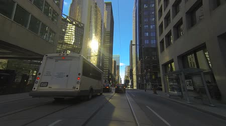 enrolamento : A point of view drive through Toronto, Canada traffic