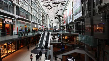interiér : 4K UltraHD A timelapse view of the Eaton Center, Toronto