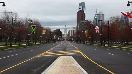 philadelphie : A view of Philadelphia Pennsylvania looking toward the city center