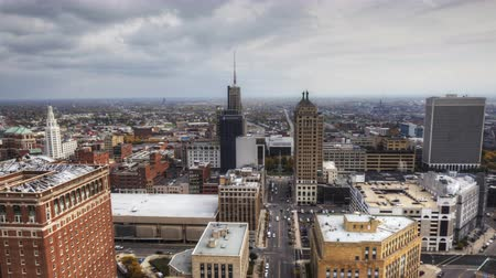 novo : 4K UltraHD Timelapse aerial view of the city of Buffalo