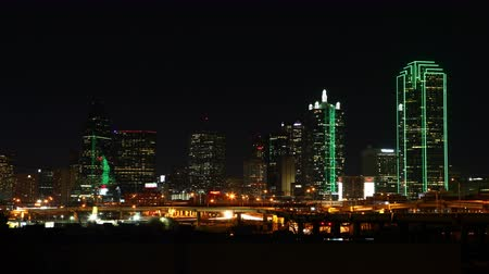 skyscraper : 4K UltraHD Night timelapse of the Dallas skyline