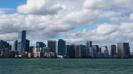 united states : Miami, Florida skyline, a timelapse view