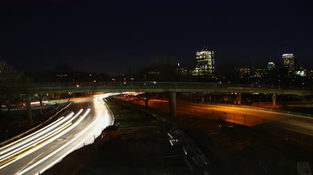moderní : 4K UltraHD Timelapse view of a Boston night traffic
