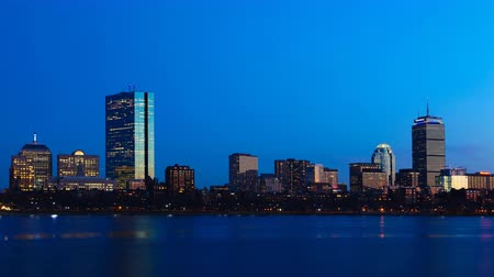 panorâmico : 4K UltraHD Day to night Timelapse Boston Stock Footage