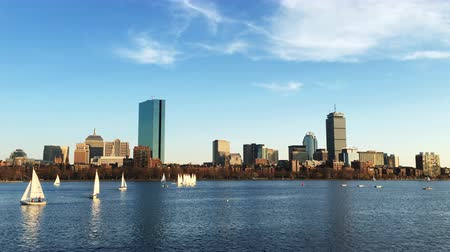 arka görünüm : 4K UltraHD View of Boston city center