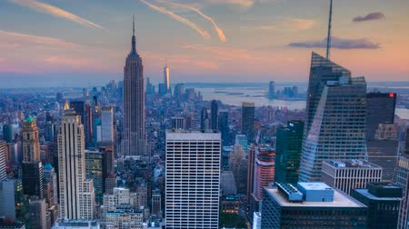 beautiful view : Nightfall timelapse in the heart of Manhattan