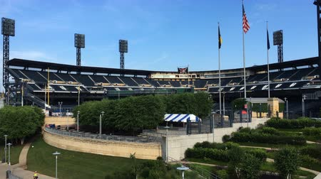 base ball : 4K UltraHD PNC Park, terrain du club de Pittsburgh Pirates Vidéos Libres De Droits