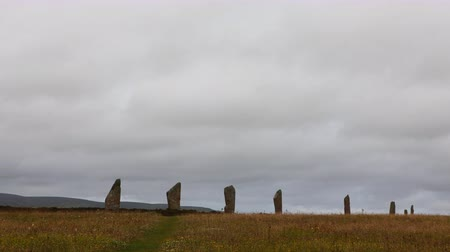 arqueológico : 4K UltraHD The neolithic Ring of Brodgar, Orkney in Scotland