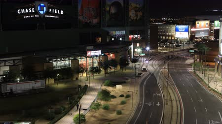 çatı : 4K UltraHD Night timelapse of Chase Field in Phoenix, Arizona Stok Video