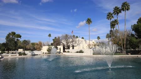 çatı : 4K UltraHD Timelapse of the Scottsdale, Arizona city hall Stok Video