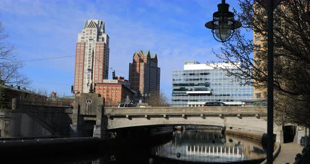 rhode : 4K UltraHD View of downtown Providence, Rhode Island Stock Footage