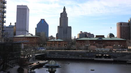 rhode : 4K UltraHD Timelapse of downtown Providence, Rhode Island Stock Footage