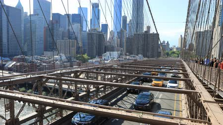 kabel : 4K UltraHD Timelapse of the traffic on the Brooklyn bridge Wideo
