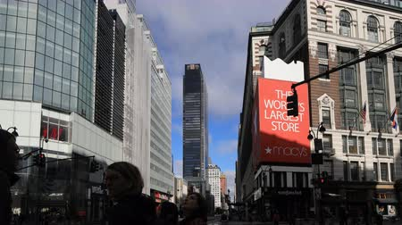 loja : 4K UltraHD Timelapse of street scene near Macys, Manhattan