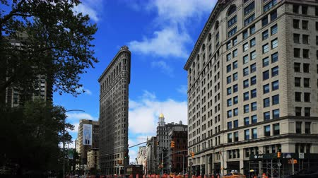 flatiron building : 4K UltraHD Timelapse of the Flatiron Building on a wet day