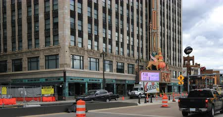 mi : Fox Theater in Detroit Michigan 4K Stock Footage