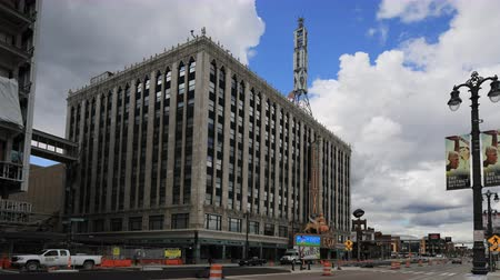 mi : Timelapse of Fox Theater in Detroit Michigan 4K