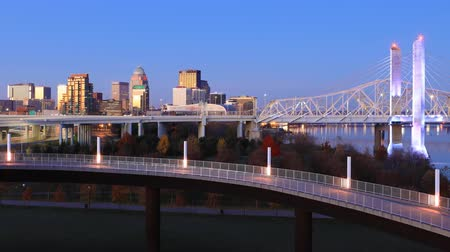 muhammad ali : Timelapse of Louisville, Kentucky at daybreak 4K