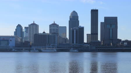 muhammad ali : Timelapse of Louisville, Kentucky across the Ohio River 4K