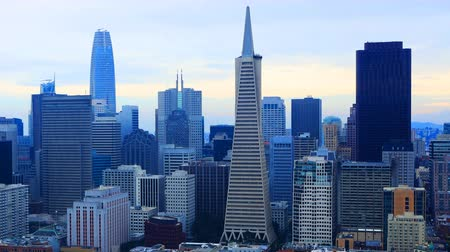 pyramida : Timelapse of the San Francisco, California skyline 4K Dostupné videozáznamy