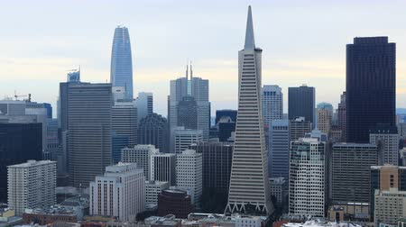 pyramida : Timelapse of San Francisco, California skyline 4K