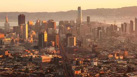 pyramida : Sunrise timelapse of San Francisco, California 4K Dostupné videozáznamy