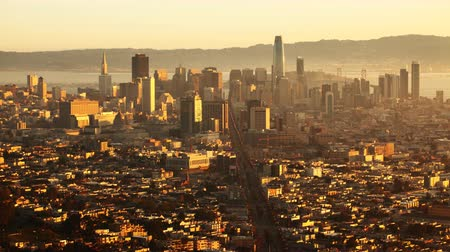 san francisco : Sunrise timelapse of San Francisco 4K Stock Footage