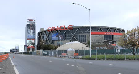 stadyum : View of Oracle Arena in Oakland, home of the NBA Golden State Warriors 4K