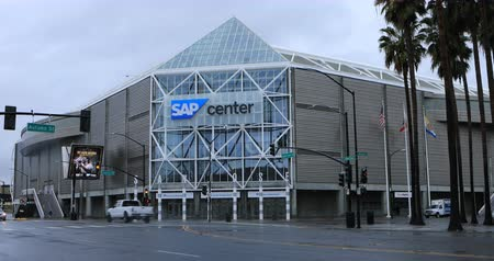 san jose ca : View of the SAP Center in San Jose, California 4K