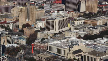 félteke : Aerial timelapse view of San Antonio city center 4K