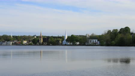steeples : Timelapse of the town of Mahone Bay, Nova Scotia 4K