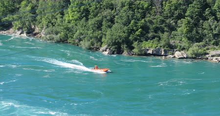 power cable : Jet Boat at Whirlpool Rapids, Niagara Falls, Canada 4K