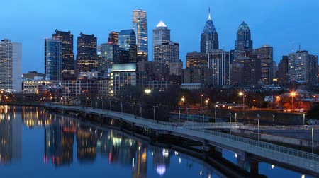 Франклин : Cinemagraph, Looped, Night Timelapse Philadelphia