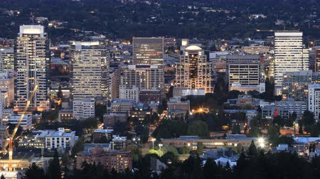 Орегон : Timelapse Day to night of the Portland, Oregon  city center 4K