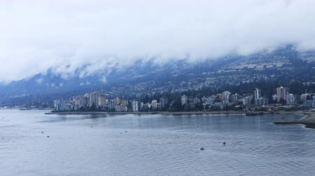 ingiliz columbia : Timelapse of North Vancouver, British Columbia 4K Stok Video