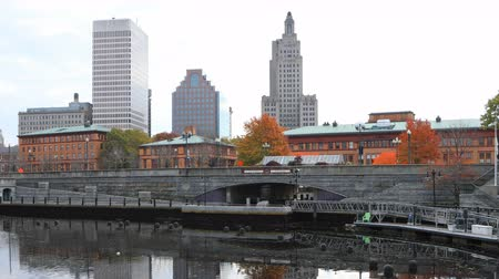 northeast : Timelapse of downtown Providence, Rhode Island 4K Stock Footage