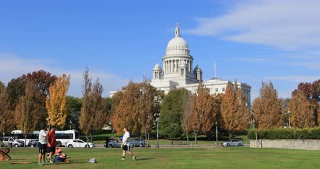 rhode : View of capital building in Providence, Rhose Island 4K Stock Footage
