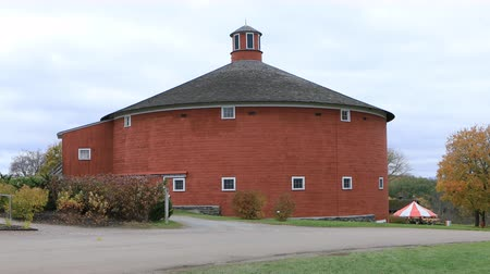 anglia : Round Barn, an exhibit at the Shelburne Museum in Vermont 4K. Founded in 1947 by Electra Webb