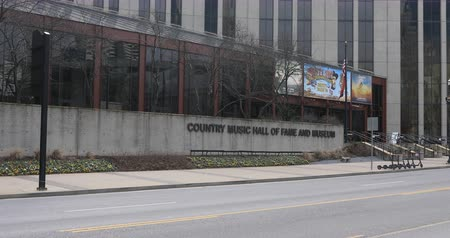fama : Country Music Hall of Fame and Museum, Nashville, Tennessee 4K Stock Footage