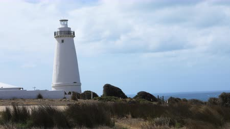 phare lumiere : Timelapse Cape Willoughby Lighthouse sur Kangaroo Island, Australie 4K Vidéos Libres De Droits