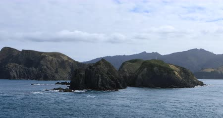 north bay : Mountain scene from Cook Strait, New Zealand 4K